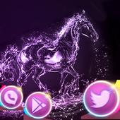 Elegant Purple Crystal Horses Theme icon