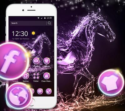 Elegant Purple Crystal Horses Theme poster