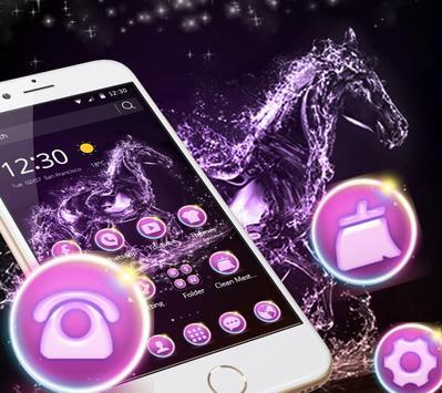 Elegant Purple Crystal Horses Theme apk screenshot