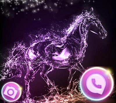 Elegant Purple Crystal Horses Theme screenshot 2