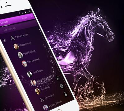 Elegant Purple Crystal Horses Theme screenshot 3
