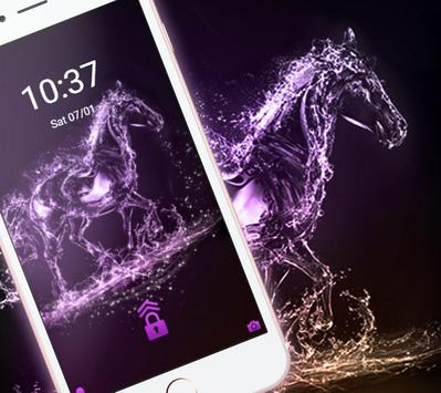 Elegant Purple Crystal Horses Theme screenshot 4