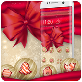 Sweet Pink Christmas Theme أيقونة
