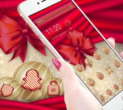 Sweet Pink Christmas Theme الملصق