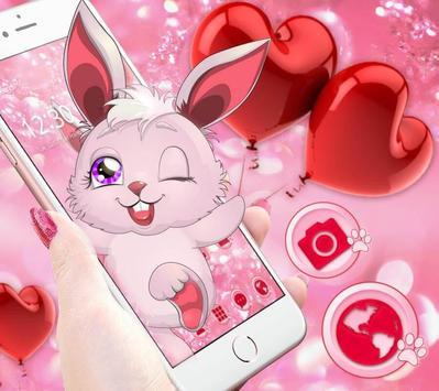 Lovely Pink Rabbit Theme poster