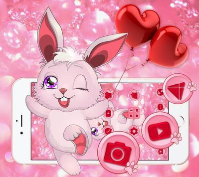 Lovely Pink Rabbit Theme screenshot 1