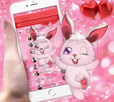 Lovely Pink Rabbit Theme screenshot 4