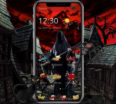 Halloween graffiti horror ghost bloody theme screenshot 1
