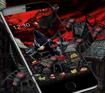Halloween graffiti horror ghost bloody theme screenshot 2
