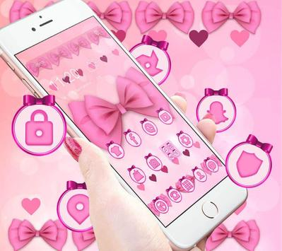 Adorable Pink Bow Theme poster