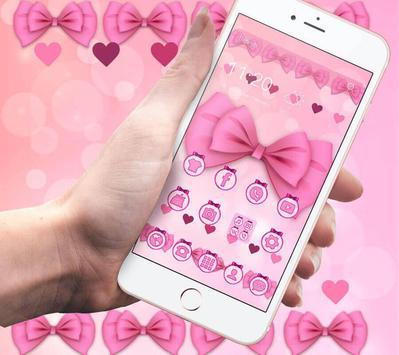 Adorable Pink Bow Theme screenshot 1