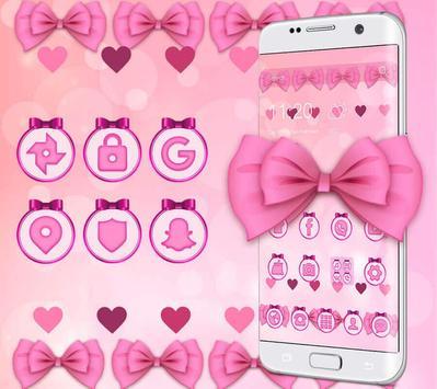 Adorable Pink Bow Theme screenshot 2