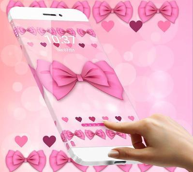 Adorable Pink Bow Theme screenshot 3