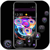 Cool colorful spinner lock screen & theme icon