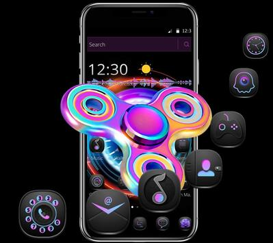 Cool colorful spinner lock screen & theme poster