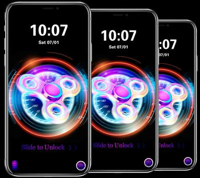 Cool colorful spinner lock screen & theme apk screenshot