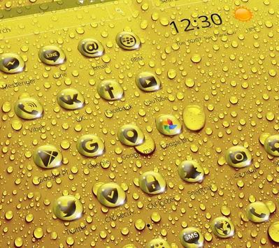 Golden Drop Theme apk screenshot