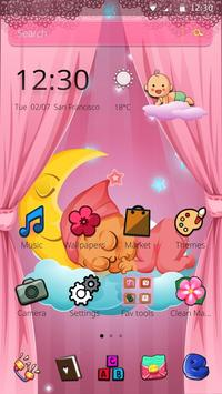 Pink Angel Baby Theme poster