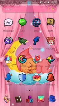 Pink Angel Baby Theme screenshot 1