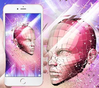Texture robot theme apk screenshot