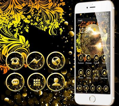 Mysterious Golden Mask theme apk screenshot