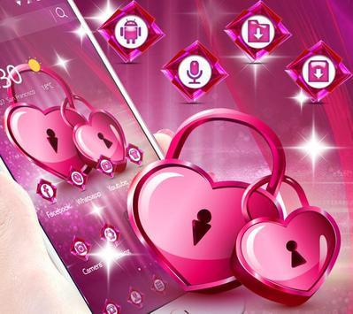 Romantic pink heart theme screenshot 1