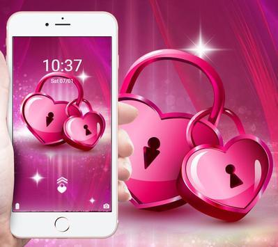 Romantic pink heart theme screenshot 3