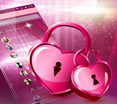 Romantic pink heart theme screenshot 4