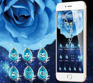 The Blue Magnificent Rose And Diamond Theme poster