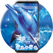 Blue Ocean And Dolphin Theme icon