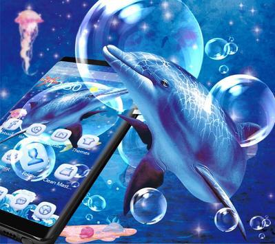 Blue Ocean And Dolphin Theme screenshot 1