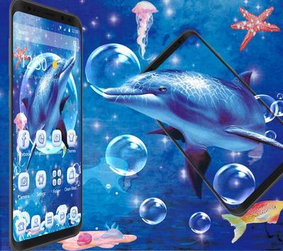 Blue Ocean And Dolphin Theme screenshot 2