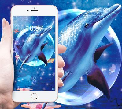 Blue Ocean And Dolphin Theme screenshot 4