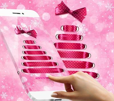 Pink bowknot dream Christmas theme apk screenshot