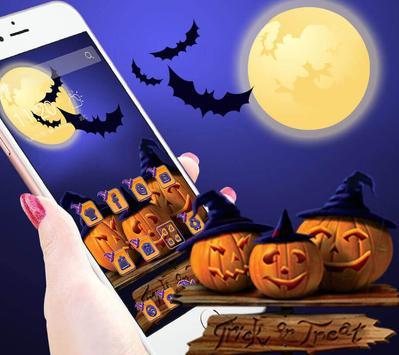 Halloween Pumpkin Witch Hat Theme poster