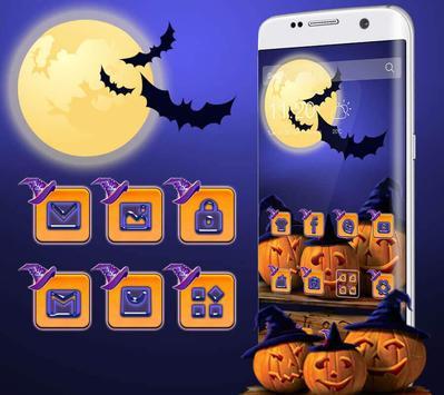 Halloween Pumpkin Witch Hat Theme apk screenshot