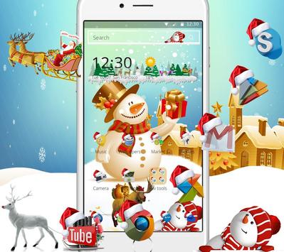 Happy Christmas Wallpaper Theme & Lock Screen apk screenshot