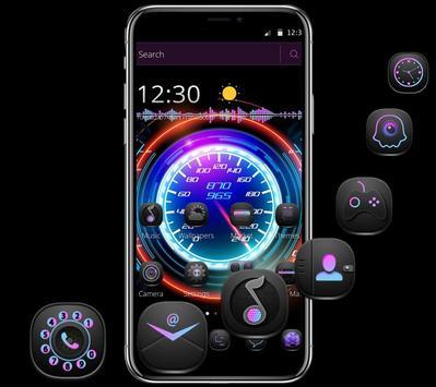 Cool Purple Dashboard Theme & Lock Screen poster