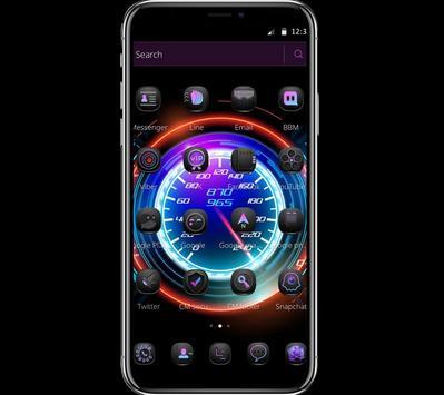 Cool Purple Dashboard Theme & Lock Screen apk screenshot