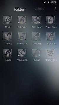 Glass theme Business simple Smart apk screenshot