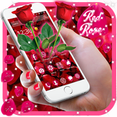 Beautiful Red Rose Petals Theme icon