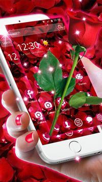 Beautiful Red Rose Petals Theme screenshot 2