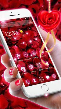 Beautiful Red Rose Petals Theme screenshot 4