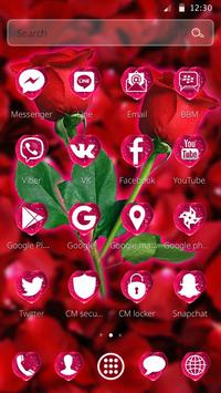 Beautiful Red Rose Petals Theme apk screenshot