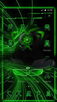 豪華炫酷綠色跑車主題 炫酷綠色跑車壁紙/桌布 screenshot 1