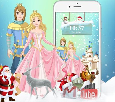 Princess princess Christmas gift theme poster