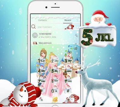 Princess princess Christmas gift theme apk screenshot