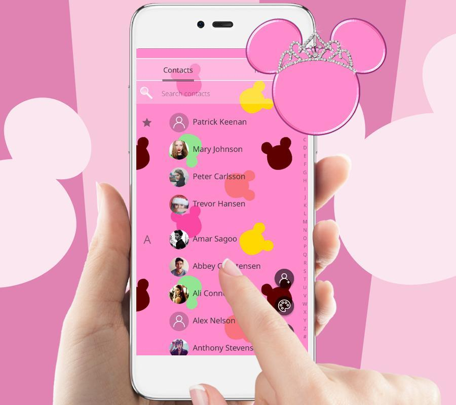 Pink Cute Mouse Wallpaper Lock Screen For Android Apk