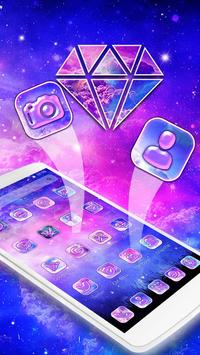 Galaxy pink bluish Theme screenshot 1