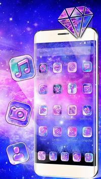 Galaxy pink bluish Theme screenshot 2